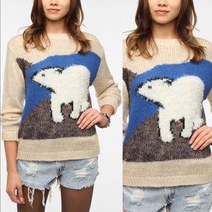 URBAN OUTFITTERS Pins & Needles Polar Bear Sweater